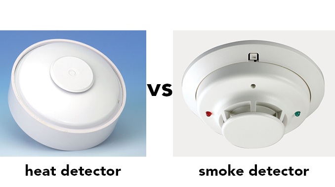"What's the difference between a ""heat detector"" and a ""smoke detector""?"